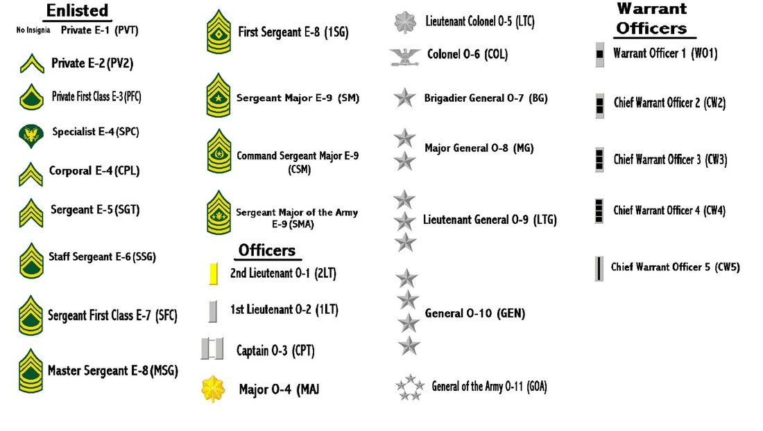 Basic Army Ranks In Order Military Branches - Mi...